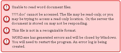 Word Errors